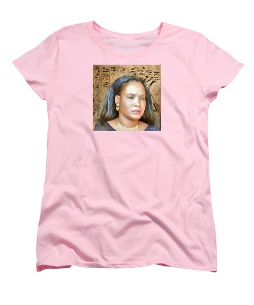 Women's T-Shirt (Standard Cut) featuring the painting For Nicole Edwards by Wayne Pascall