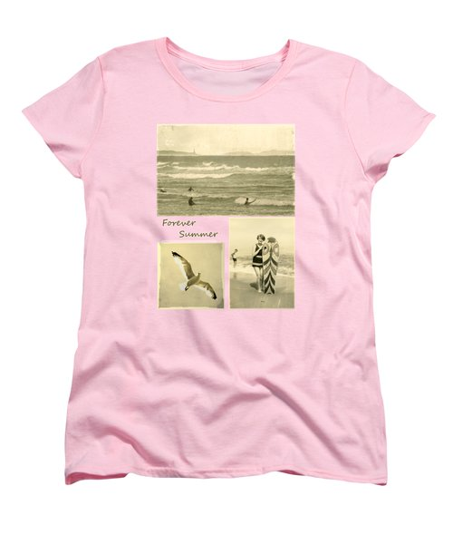 Women's T-Shirt (Standard Cut) featuring the photograph Forever Summer 3 by Linda Lees