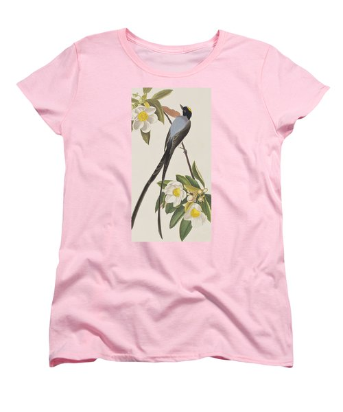 Fork-tailed Flycatcher  Women's T-Shirt (Standard Cut) by John James Audubon