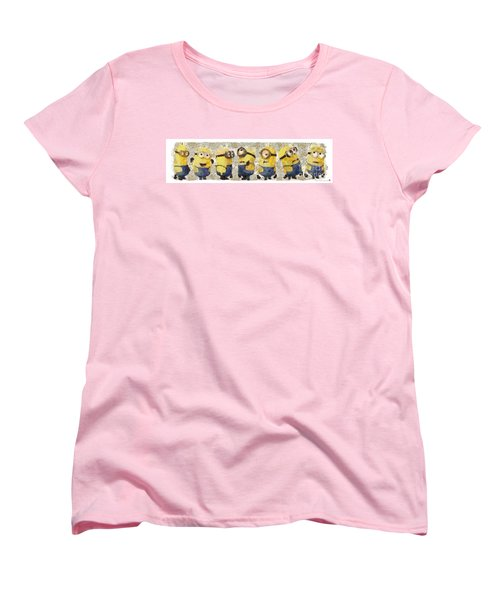 Fragmented And Still In Awe Congratulations Minions Women's T-Shirt (Standard Cut) by Catherine Lott