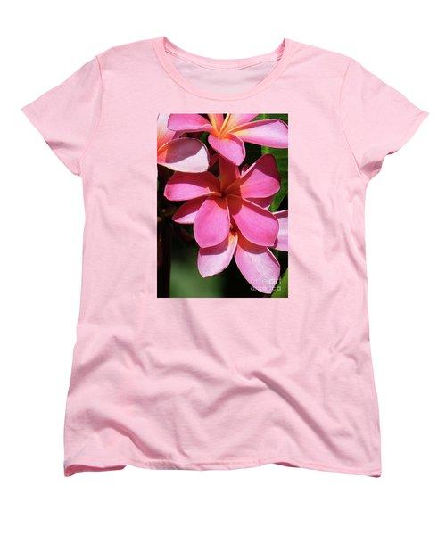 Frangipani Women's T-Shirt (Standard Cut) by Mini Arora