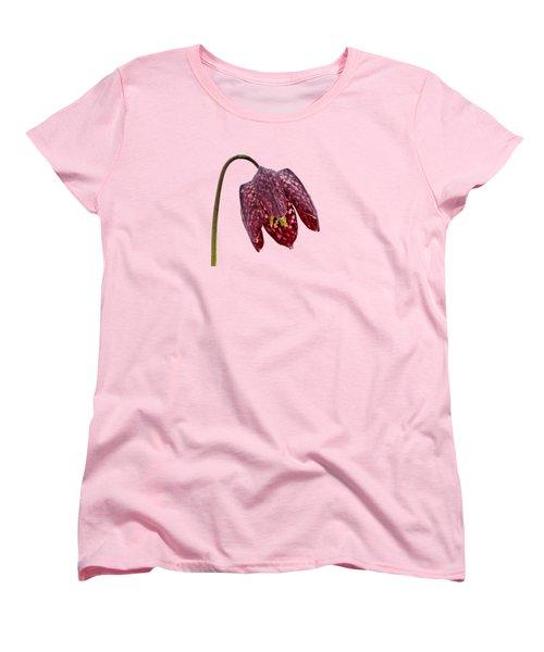 Women's T-Shirt (Standard Cut) featuring the photograph Fritillaria Meleagris Transparent Background by Paul Gulliver