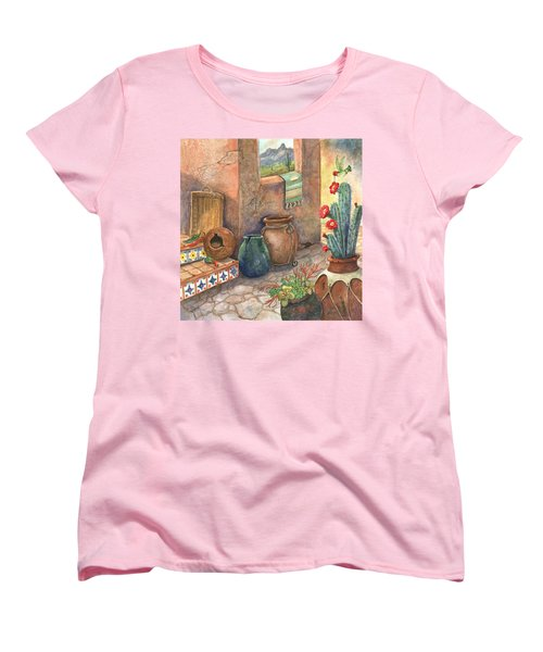 Women's T-Shirt (Standard Cut) featuring the painting From This Earth by Marilyn Smith