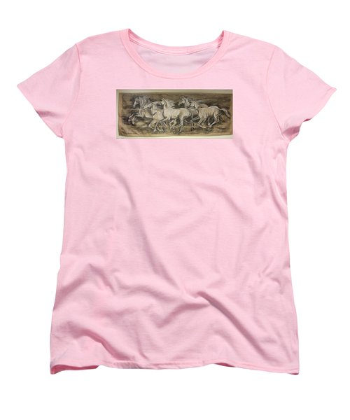 Galloping Stallions Women's T-Shirt (Standard Cut) by Debora Cardaci