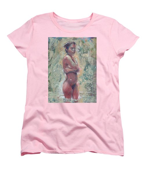 Gardenia Negra Women's T-Shirt (Standard Cut) by Gertrude Palmer
