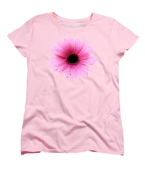 Gerbera Pink - Daisy - Up Close Women's T-Shirt (Standard Cut) by MTBobbins Photography