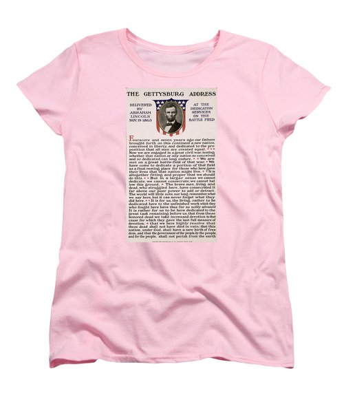 Gettysburg Address Women's T-Shirt (Standard Cut) by International  Images