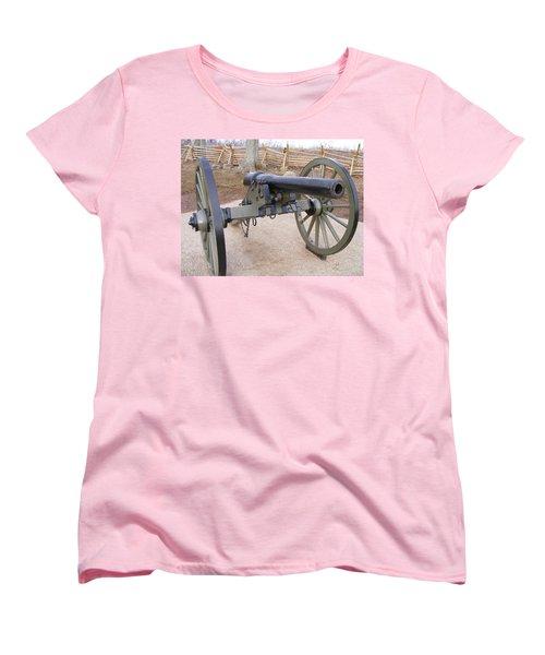 Gettysburg Cannon Women's T-Shirt (Standard Cut) by Adam Cornelison