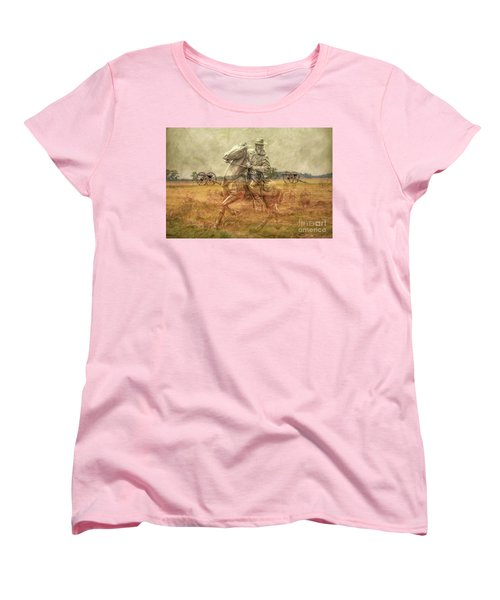 Ghosts Of Gettysburg II Women's T-Shirt (Standard Cut) by Randy Steele