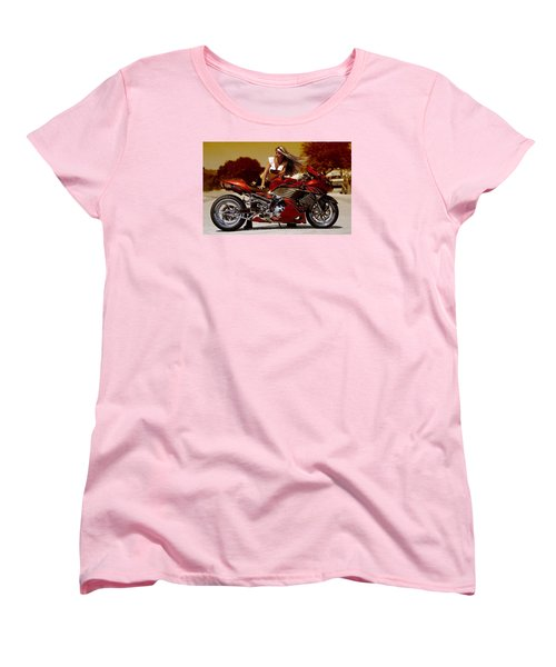 Women's T-Shirt (Standard Cut) featuring the photograph Girl On Fire by Lawrence Christopher