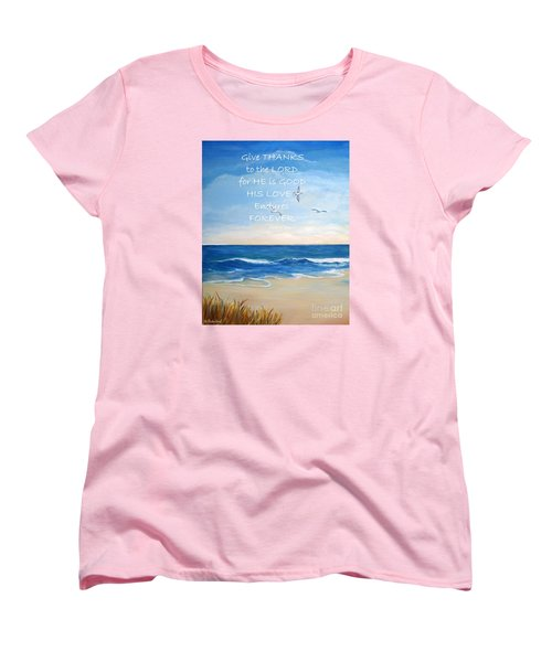 Women's T-Shirt (Standard Cut) featuring the painting Give Thanks by Shelia Kempf