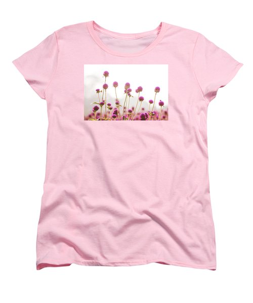 Globe Amaranath Women's T-Shirt (Standard Cut) by Hyuntae Kim