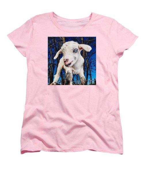 Goat High Fashion Runway Women's T-Shirt (Standard Cut) by TC Morgan