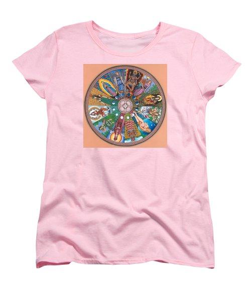 Goddess Wheel Guadalupe Women's T-Shirt (Standard Cut) by James Roderick