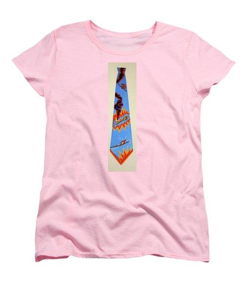 Going Down Women's T-Shirt (Standard Cut) by Tracy Dennison