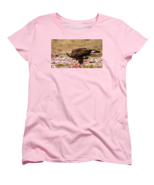 Golden Eagle's Profile Women's T-Shirt (Standard Cut) by Torbjorn Swenelius