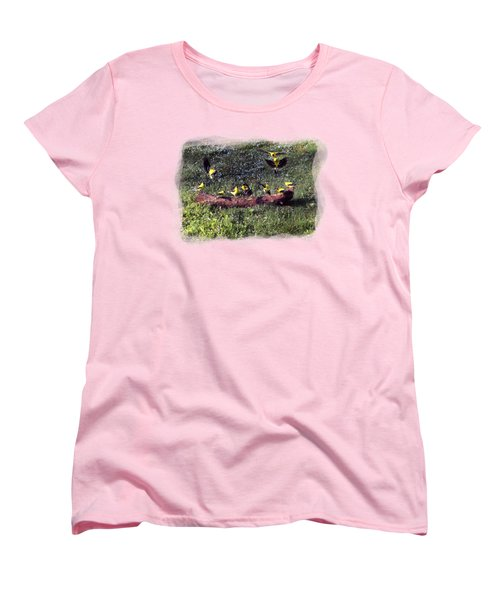 Women's T-Shirt (Standard Cut) featuring the photograph Goldfinch Convention by Nick Kloepping