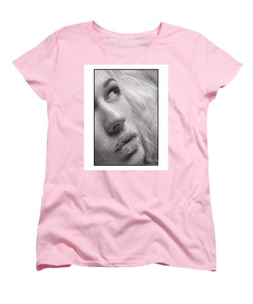 Women's T-Shirt (Standard Cut) featuring the photograph Gorgeous Girl With Sugar On Her Lips by Michael Edwards