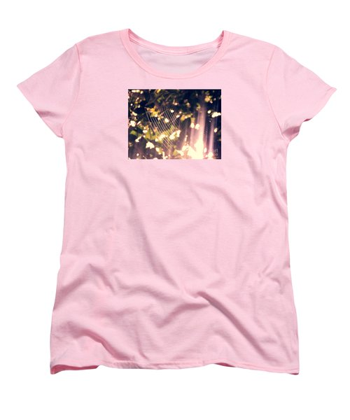 Women's T-Shirt (Standard Cut) featuring the photograph Gossamer Glow by Megan Dirsa-DuBois
