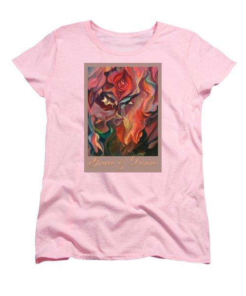 Women's T-Shirt (Standard Cut) featuring the painting Grace And Desire by Brooks Garten Hauschild