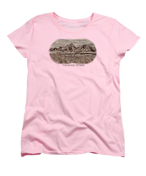 Grand Tetons Woodburning 2 Women's T-Shirt (Standard Cut) by John M Bailey
