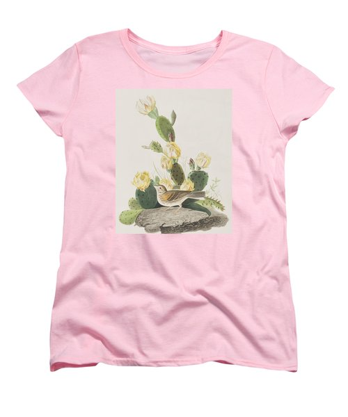 Grass Finch Or Bay Winged Bunting Women's T-Shirt (Standard Cut) by John James Audubon