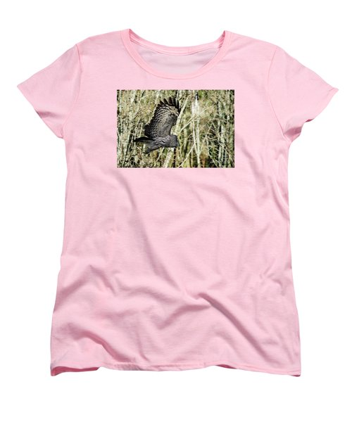 Great Grey's Flight Women's T-Shirt (Standard Cut) by Torbjorn Swenelius