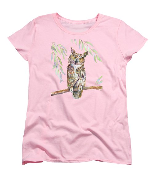 Great Horned Owl  Women's T-Shirt (Standard Cut)