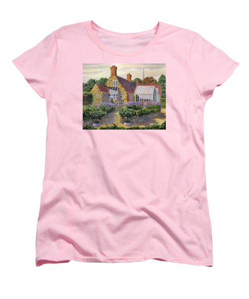 Great Houghton Cottage Women's T-Shirt (Standard Cut) by David Gilmore