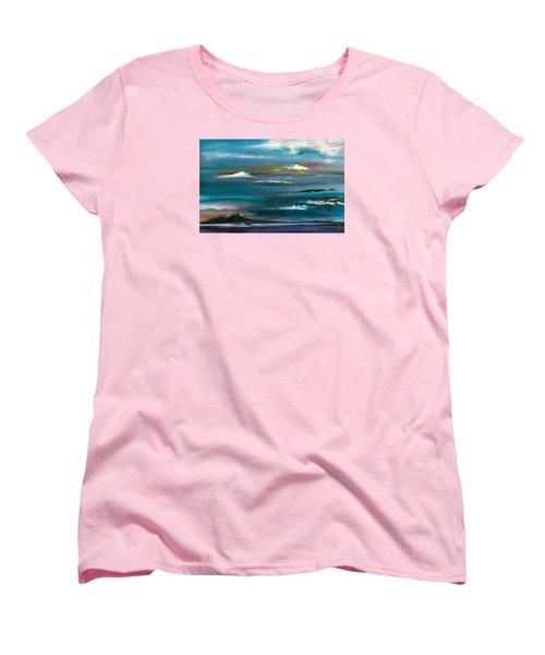 Women's T-Shirt (Standard Cut) featuring the painting Great Salt Lake by Jane Autry
