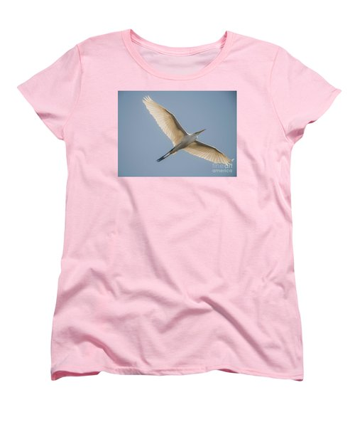 Women's T-Shirt (Standard Cut) featuring the photograph Great White Egret by David Bearden