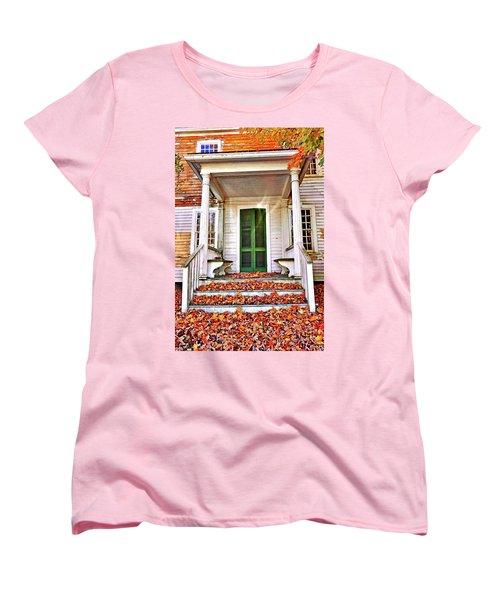 Green Autumn Door Women's T-Shirt (Standard Cut)