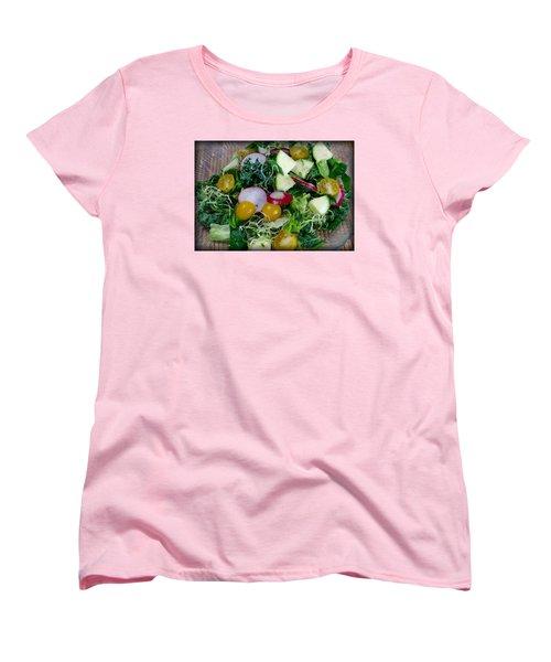 Green Salad Women's T-Shirt (Standard Cut) by Adria Trail