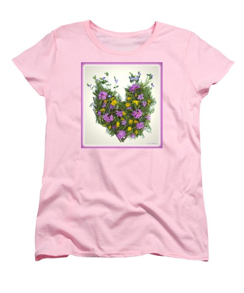 Growing Heart Women's T-Shirt (Standard Cut) by Lise Winne