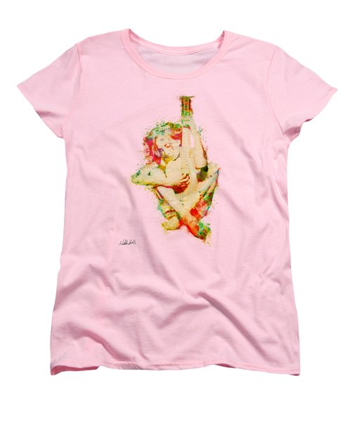 Guitar Lovers Embrace Women's T-Shirt (Standard Cut) by Nikki Smith