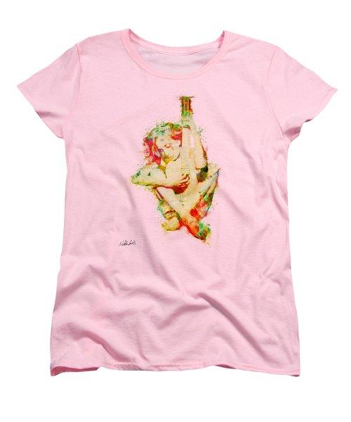 Guitar Lovers Embrace Women's T-Shirt (Standard Cut)