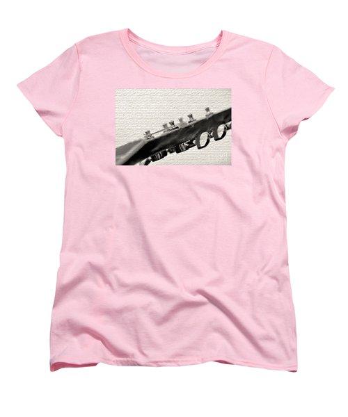 Women's T-Shirt (Standard Cut) featuring the photograph Guitar Street Art By Kaye Menner by Kaye Menner