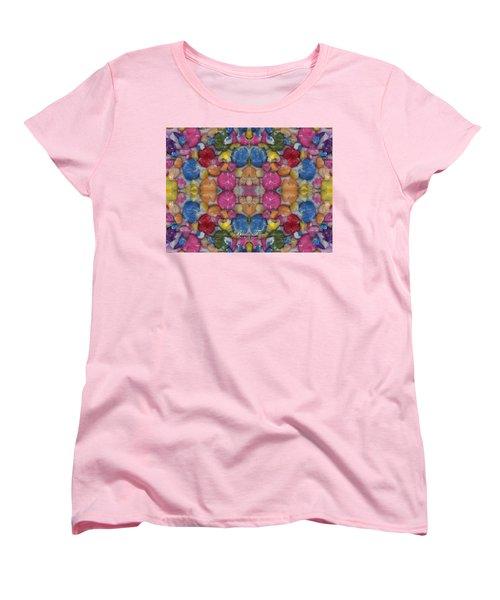 Gumballs #0000a_2 Women's T-Shirt (Standard Cut) by Barbara Tristan