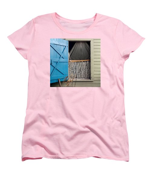 Hammock In Key West Window Women's T-Shirt (Standard Cut) by Brent L Ander