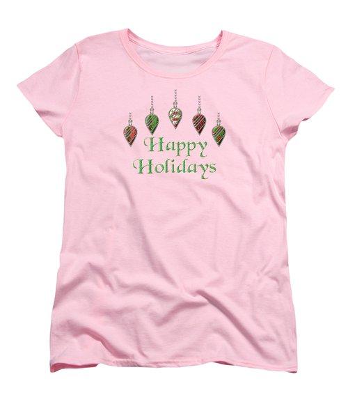 Happy Holidays Merry Christmas Women's T-Shirt (Standard Cut)