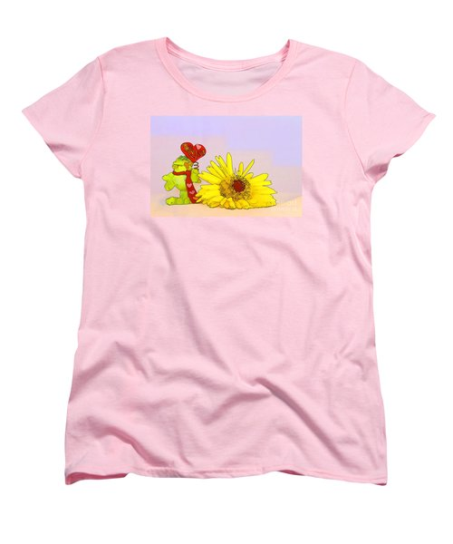 Women's T-Shirt (Standard Cut) featuring the photograph Happy Valentine's Day by Teresa Zieba