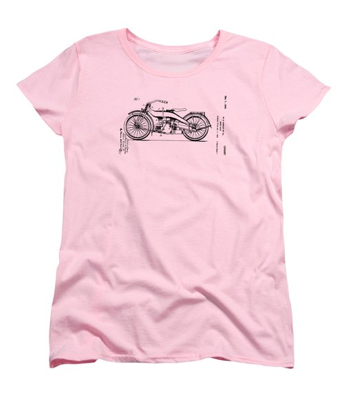 Harley Motorcycle Patent Women's T-Shirt (Standard Cut) by Bill Cannon