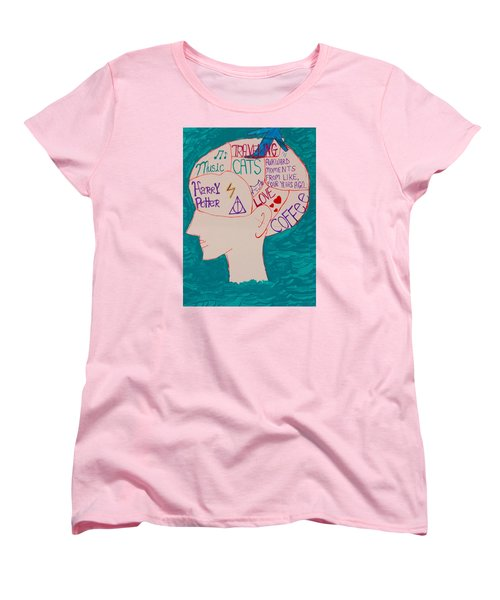 Women's T-Shirt (Standard Cut) featuring the painting Head In Clouds by Artists With Autism Inc