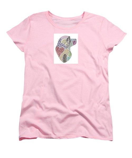 Heart Labrador Doggie Doodle Women's T-Shirt (Standard Cut)