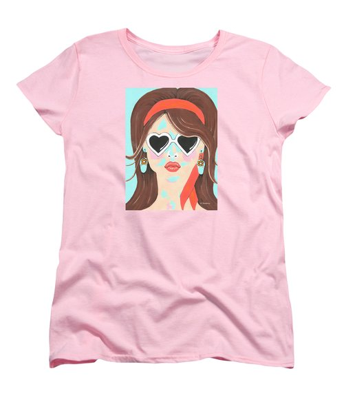 Women's T-Shirt (Standard Cut) featuring the painting Heartbreaker by Kathleen Sartoris