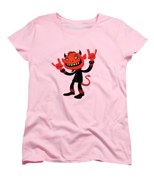Heavy Metal Devil Women's T-Shirt (Standard Cut) by John Schwegel