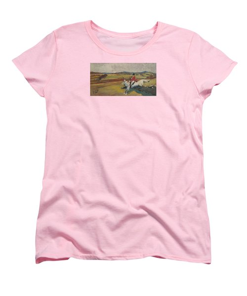 Women's T-Shirt (Standard Cut) featuring the painting Hedge Hopping Britain by Nop Briex