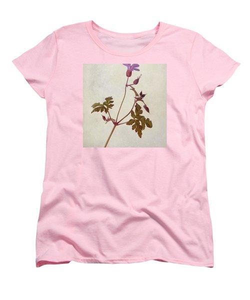 Herb Robert - Wild Geranium  #flower Women's T-Shirt (Standard Cut) by John Edwards