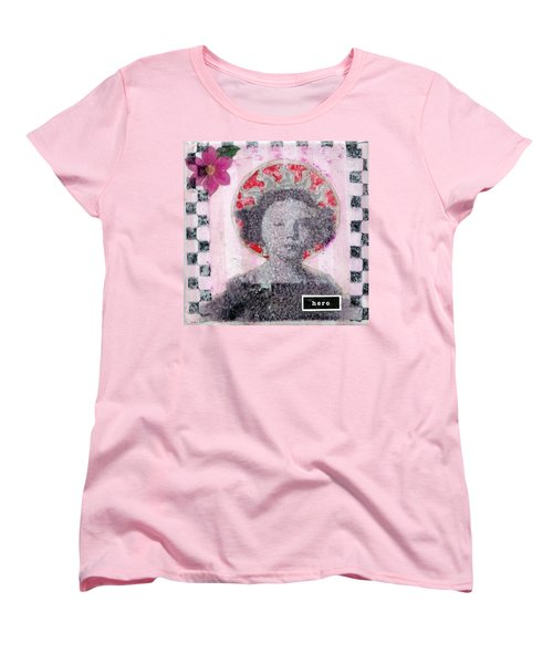 Women's T-Shirt (Standard Cut) featuring the mixed media Hero by Desiree Paquette