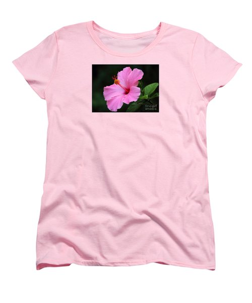 Hibiscus In Pink Women's T-Shirt (Standard Cut) by Lisa L Silva